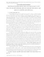 MỘT SỐ KINH NGHIỆM TRONG VIỆC CHUẨN BỊ TÀI LIỆU VÀ TỔ  CHỨC ÔN TẬP MÔN SINH HỌC, HỌC KÌ I, CHO HỌC SINH LỚP 12  BAN KHTN CỦA TRƯỜNG THPT SÔNG RAY