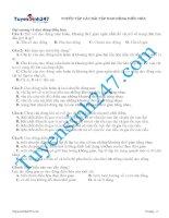 TUYỂN tập các bài tập DAO ĐỘNG điều hòa (ôn thi vật lý)