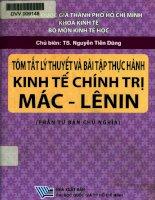 Tóm tắt lý thuyết và bài tập thực hành kinh tế chính trị Mác - Lênin Học phần tư bản chủ nghĩa