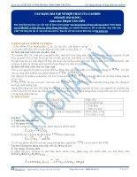 Các dạng bài tập về hợp chất của Cacbon