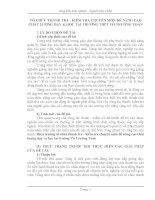TỔ CHỨC THANH TRA  KIỂM TRA CHUYÊN MÔN ĐỂ NÂNG CAO CHẤT LƯỢNG DẠY  HỌC TẠI TRƯỜNG THPT VÕ TRƯỜNG TOẢN