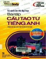 Bài tập cấu tạo từ tiếng Anh Dành cho học sinh THPT và ôn thi đại học