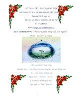 dự thi dạy học tích hợp liên môn nước  nguồn sống của con người