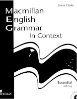 Macmillan English Grammar in Context Essential 1