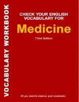 Check Your English Vocabulary for Medicine