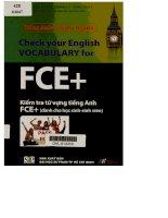 Kiểm tra từ vựng tiếng Anh FCE+ Dành cho học sinh - sinh viên