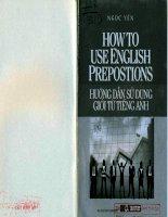 how to use english prepostions hướng dẫn sử dụng giới từ tiếng anh ngọc yến