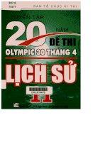 Tuyển tập 20 năm đề thi Olympic 30 tháng 4 Lịch sử 11