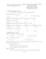 Đề thi khảo sát chất lượng đầu năm lớp 7 môn toán năm 2013 2014 trường THCS phượng kỳ, hải dương