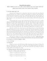 SÁNG KIẾN KINH NGHIỆM  PHÁT TRIỂN NĂNG LỰC HỌC SINH THÔNG QUA DẠY HỌC BÀI TẬP  KIM LOẠI KIỀM, KIM LOẠI KIỀM THỔ, NHÔM