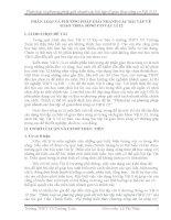 SÁNG KIẾN KINH NGHIỆM  PHÂN LOẠI VÀ PHƯƠNG PHÁP GIẢI NHANH CÁC BÀI TẬP VỀ  GIAO THOA SÓNG CƠ VẬT LÍ 12