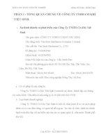 BÁO CÁO THỰC TẬP TỐT NGHIỆP CÔNG TY TNHH CƠ KHÍ VIỆT SINH