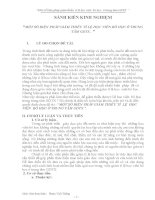 SÁNG KIẾN KINH NGHIỆM  MỘT SỐ BIỆN PHÁP GIẢM THIỂU TỈ LỆ HỌC VIÊN BỎ HỌC Ở TRUNG TÂM GDTX