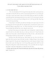 SÁNG KIẾN KINH NGHIỆM  Ổ CHỨC SINH HOẠT LỚP THEO CHUYÊN ĐỀ NHẰM GIÁO DỤC KĨ NĂNG SỐNG CHO HỌC SINH