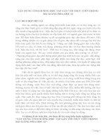 SÁNG KIẾN KINH NGHIỆM  XÂY DỰNG TÌNH HUỐNG HỌC TẬP GẮN VỚI THỰC TIỄN TRONG BÀI GIẢNG HÓA HỌC 12