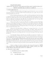 SÁNG KIẾN KINH NGHIỆM  KIỂM TRA, ĐÁNH GIÁ THEO ĐỊNH HƯỚNG PHÁT TRIỂN NĂNG LỰC TRONG CHƯƠNG ĐỊA LÍ DÂN CƯ KHỐI 10