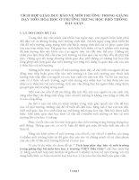 SÁNG KIẾN KINH NGHIỆM  TÍCH HỢP GIÁO DỤC BẢO VỆ MÔI TRƯỜNG TRONG GIẢNG DẠY MÔN HÓA HỌC Ở TRƯỜNG TRUNG HỌC PHỔ THÔNG DẦU GIÂY
