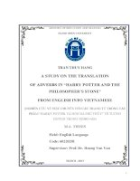 A study on the translation of adverbs in harry potter and the philosophers stone from english into vietnamese