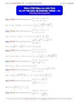 Luyện thi đại học môn toán phương pháp thế giải hệ phương trình phần 2 Thầy Đặng Việt Hùng