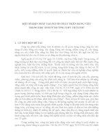 MỘT SỐ BIỆN PHÁP TẠO NGUỒN PHÁT TRIỂN ĐẢNG VIÊN  TRONG HỌC SINH Ở TRƯỜNG THPT TRẦN PHÚ