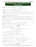 Rèn kỹ năng giải hệ phương trình và hình phẳng oxy