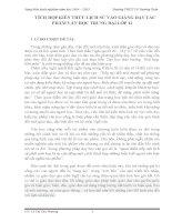 Sáng kiến kinh nghiệm  TÍCH HỢP KIẾN THỨC LỊCH SỬ VÀO GIẢNG DẠY TÁC PHẨM VĂN HỌC TRUNG ĐẠI LỚP 11