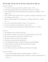 30 bài tập viết lại câu ôn thi học sinh giỏi có đáp án