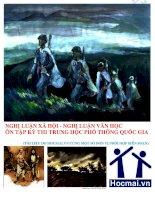 nghị luận xã hội  nghị luận văn học ôn thi THPT quốc gia môn văn (hocmai.vn biên soạn