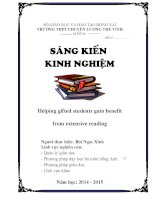 Sáng kiến kinh nghiệm  Helping gifted students gain benefit from extensive reading