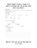 giáo án toán tăng cường ( theo mô hình VNEN)