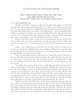 PHÁT TRIỂN PHẨM CHẤT, NĂNG LỰC HỌC SINH  QUA MỘT SỐ CHỦ ĐỀ DẠY HỌC  Ở CHƯƠNG TRÌNH NGỮ VĂN LỚP 12 HIỆN HÀNH