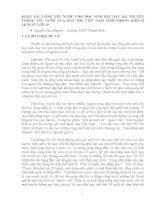KHẮC SÂU LÒNG YÊU NƯỚC CHO HỌC SINH KHI DẠY BÀI TRUYỀN THỐNG YÊU NƯỚC CỦA DÂN TỘC VIỆT NAM THỜI PHONG KIẾN Ở LỊCH SỬ LỚP 10