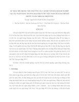 SỰ THAY ĐỔI TRONG VIỆC ĐÁP ỨNG CÁC CẤP ĐỘ VĂN HÓA DOANH NGHIỆP TẠI CÁC NGÂN HÀNG THƯƠNG MẠI NHÀ NƯỚC VIỆT NAM GIỮA HAI THỜI KỲ TRƯỚC VÀ SAU KHI GIA NHẬP WTO