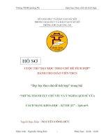 bài dự thi dạy học theo chủ đề tích hợp liên môn bài NHỮNG THÀNH tựu CHỦ yếu và ý NGHĨA LỊCH sử của CÁCH MẠNG KHOA học – kĩ THUẬT