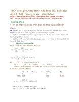 Tính theo phương trình hóa học dạng bài toán dự kiện 1 chất tham gia và 1 sản phẩm
