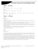 Key of FCE Practice test 3rd