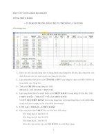 Bài tập thực hành hàm Vlook trong Excel