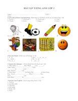 Bài tập tiếng anh lớp 2