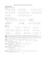 Đề cương ôn hè môn toán lớp 7