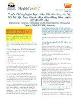 Thuốc Chủng Ngừa Bạch Hầu, Sài Uốn Ván, Ho Gà, Sốt Tê Liệt, Trực Khuẩn Gây Viêm Màng Não Loại b (DTaP-IPV-Hib)