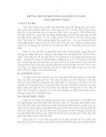 ĐỀ tài  một số BIỆN PHÁP GIÁO dục lễ GIÁO