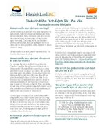 Globulin Miễn Dịch Bệnh Sài Uốn Ván - Tetanus Immune Globulin