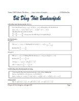 Tổng hợp các bài toán sử dụng bất đẳng thức Bunhia (có đáp án)