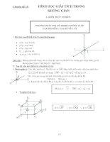 phương pháp giải hình giải tích không gian