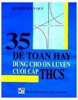 35 đề toán hay dùng cho ôn luyện cuối cấp THCS