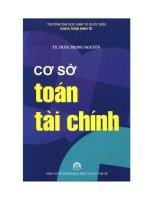 Giáo trình cơ sở toán tài chính phần 1 TS Trần Trọng Nguyên