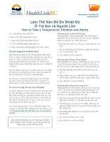 Cách Đo Thân Nhiệt Trẻ Em và Người Lớn - How to Take a Temperature Children and Adults