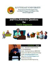 Job , viva , interview questions for textile engineers
