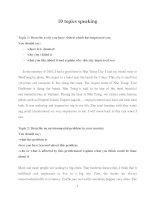 10 topics speaking B1 thi đầu ra cao học bach khoa ha noi