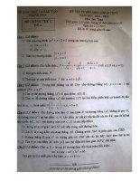 Đề thi tuyển sinh lớp 10 môn toán tỉnh Thanh Hóa năm học 2015 - 2016(có đáp án)